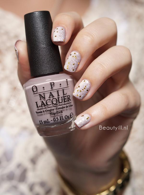 DIY Nail Art | Neutral Glitter Gradient