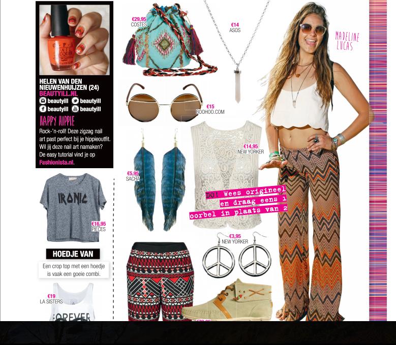 Fashionista nail art Happy Hippie